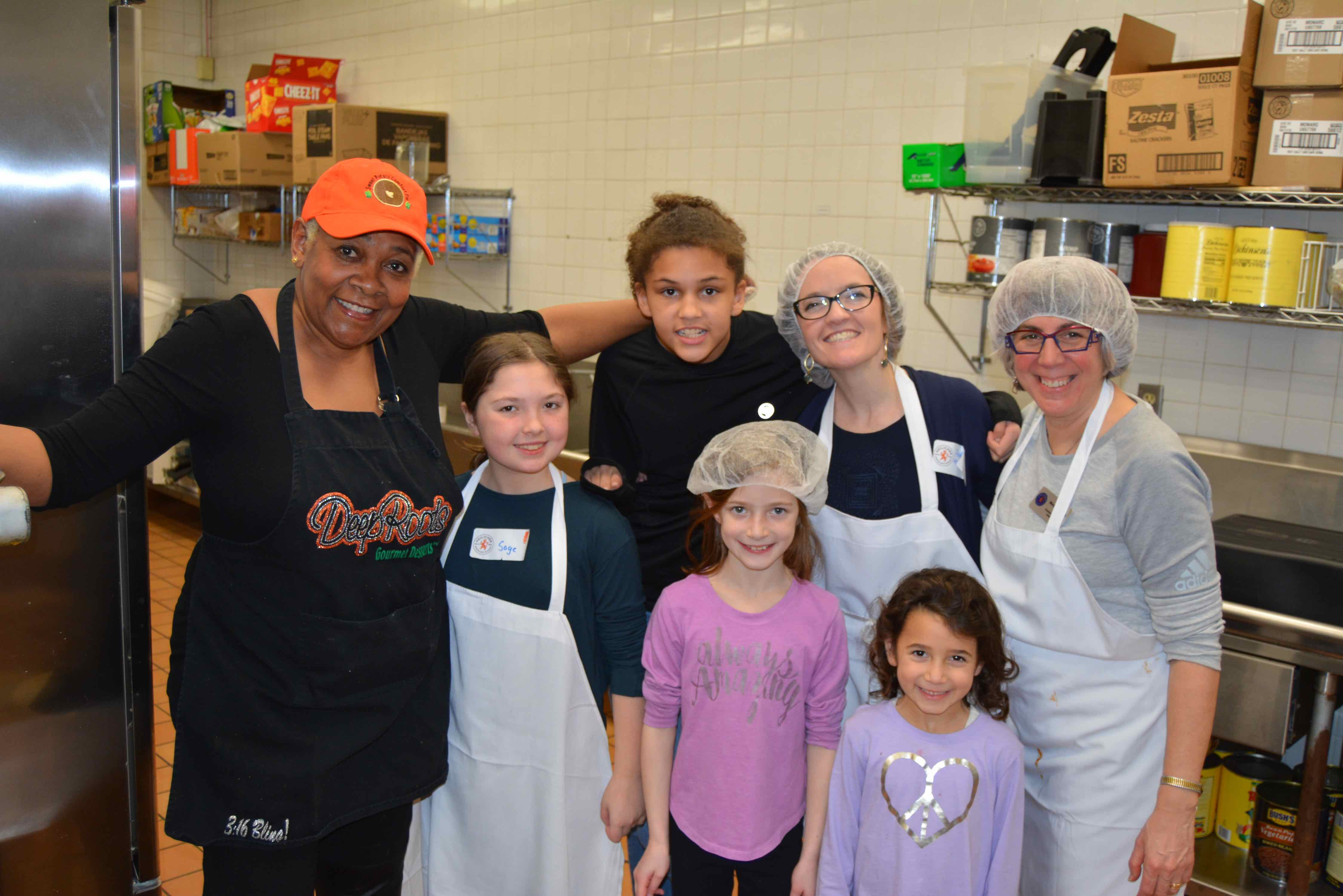 Heilicher students with Rose McGee baking