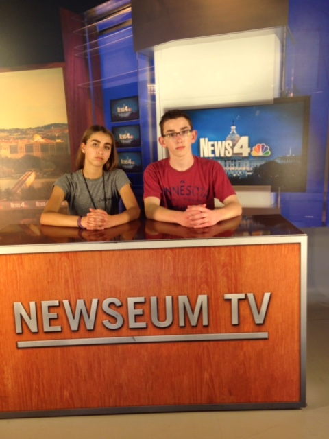 Eigth Grade Students at Newseum TV